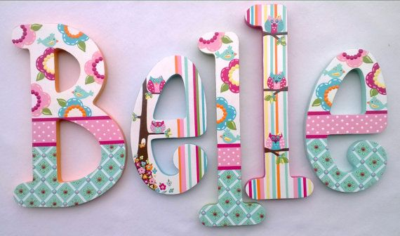 Wooden Letters, Nursery Letters, Playroom Letters, Wedding Letters
