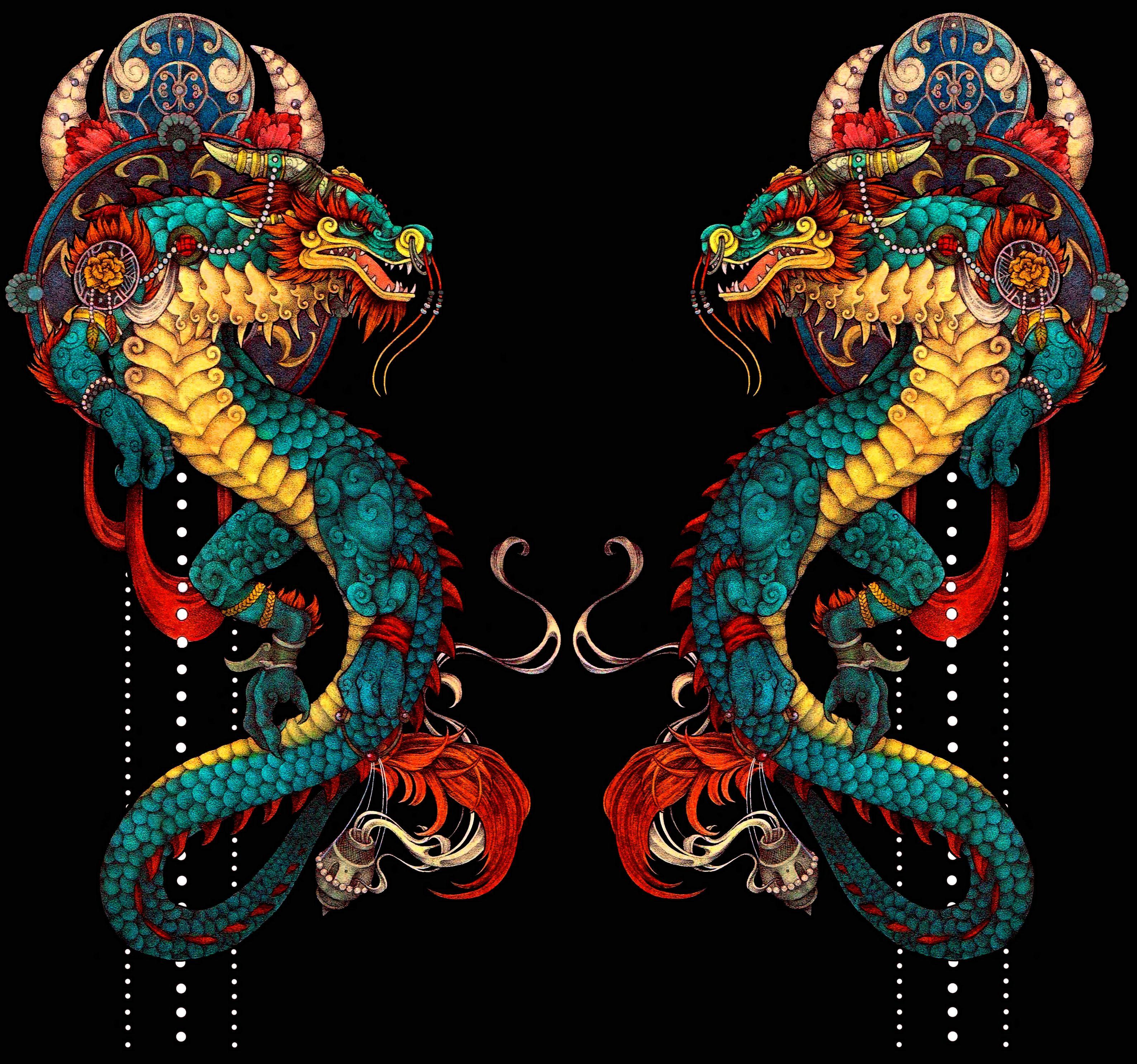 дракон близнец картинка что делаем это