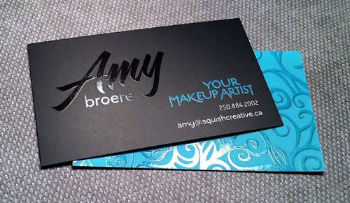 Your Makeup Artist business cards by www.SquishCreative.ca