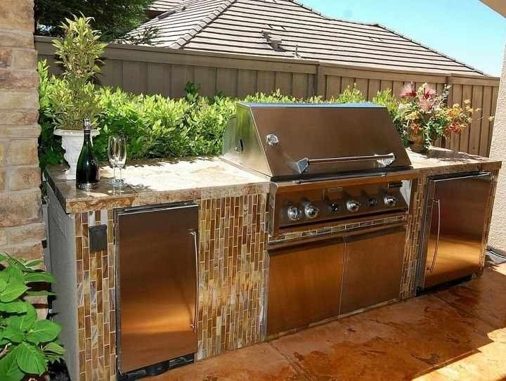 Glass Tile Accent Tile Outdoor Appliances Outdoor Kitchen Outdoor Decor