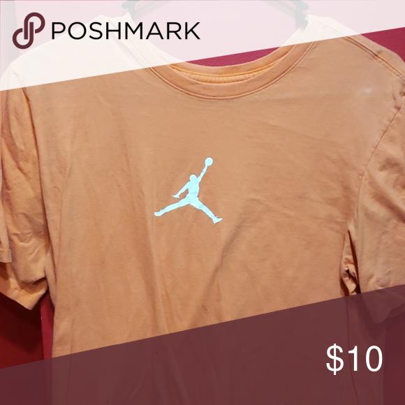 ef5d6bc65561 Air Jordan tee Orange with jumpman in center of chest Jordan Shirts Tees -  Short Sleeve