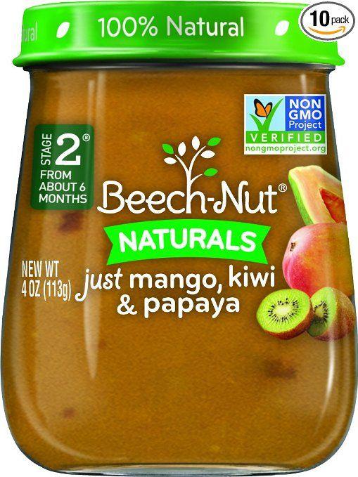 beech nut stage 2 baby food mango kiwi papaya 4 ounce pack of 10