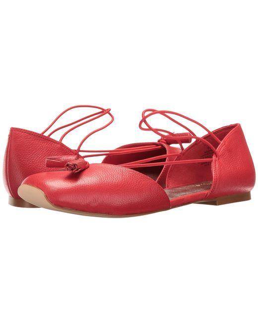Best deals Women s Flats Shoes Women Nine West Zaina Red LeatherBuy Special shoe