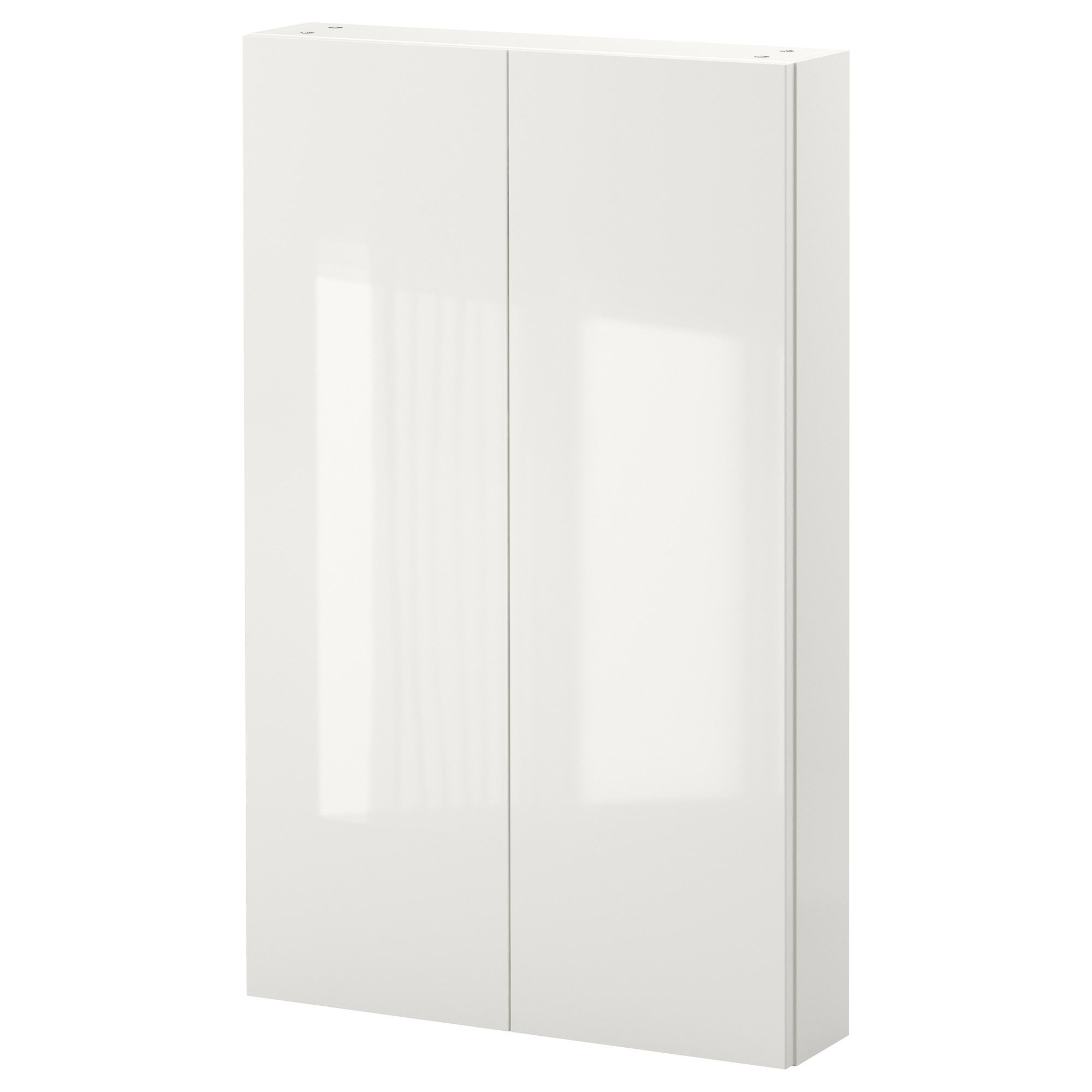 Godmorgon armario de pared con 2 puertas alto brillo for Armario de pared con entrada equipada