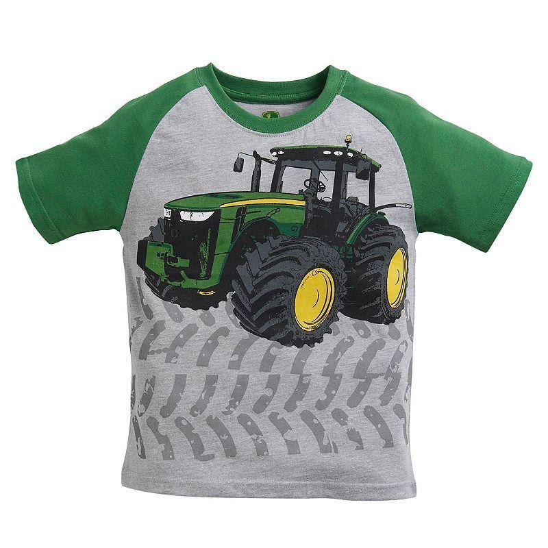 a2769d3a1 Toddler Boy John Deere Tractor & Tracks Graphic Tee, Light Grey