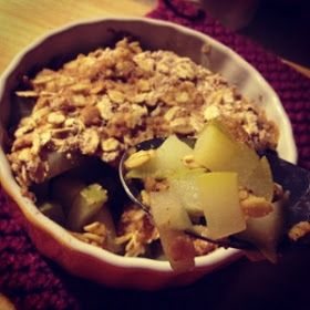 Louisiana Bride: Pear Crisp for One - in the microwave