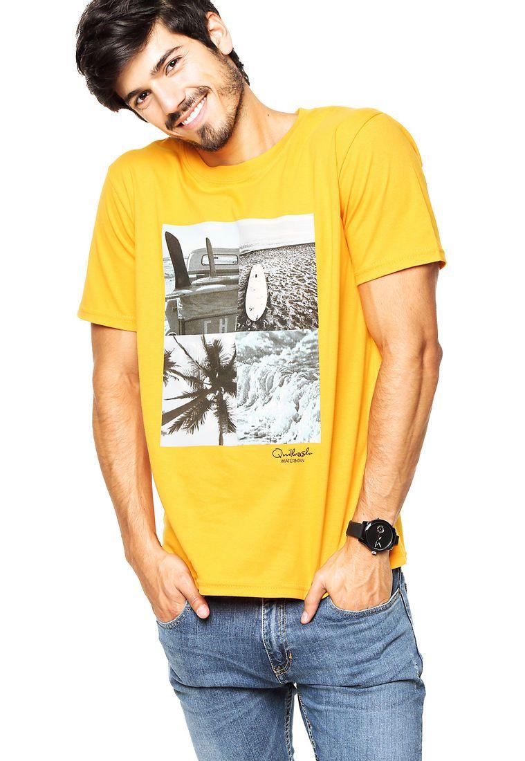 d16c856c2ba6f Remera Amarilla Quilhash   camiseta amarilla   Amarillo, Remera y ...