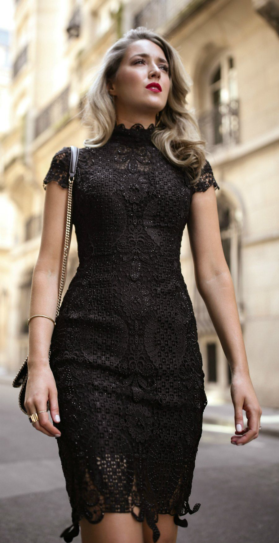 30 Dresses In 30 Days Day 11 What To Wear To A Cocktail Attire Wedding Black Lace Short Slee Black Dresses Classy Cocktail Wedding Attire Cocktail Attire [ 1747 x 900 Pixel ]