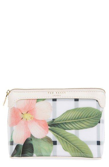 28d547d67925aa Ted Baker London  Secret Trellis  Floral Cosmetics Case available at   Nordstrom