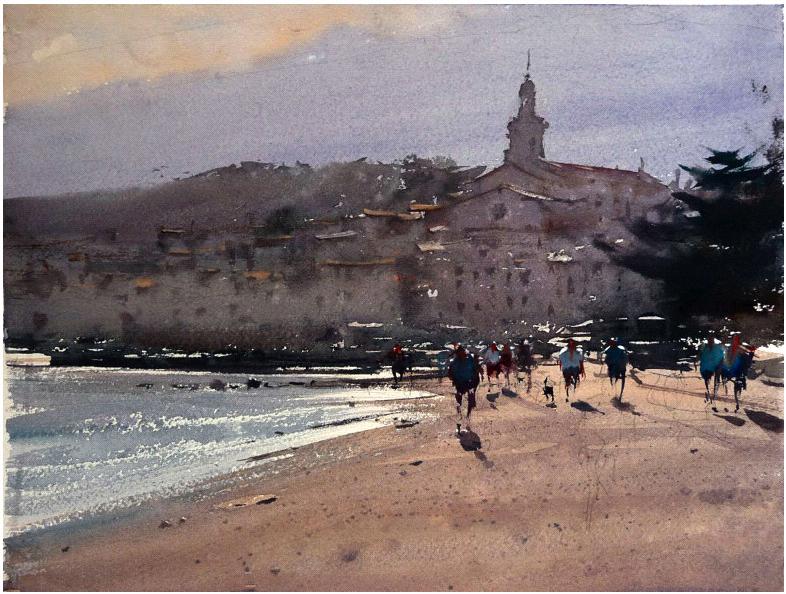Joseph Zbukvic | 水彩風景、風景、水彩畫