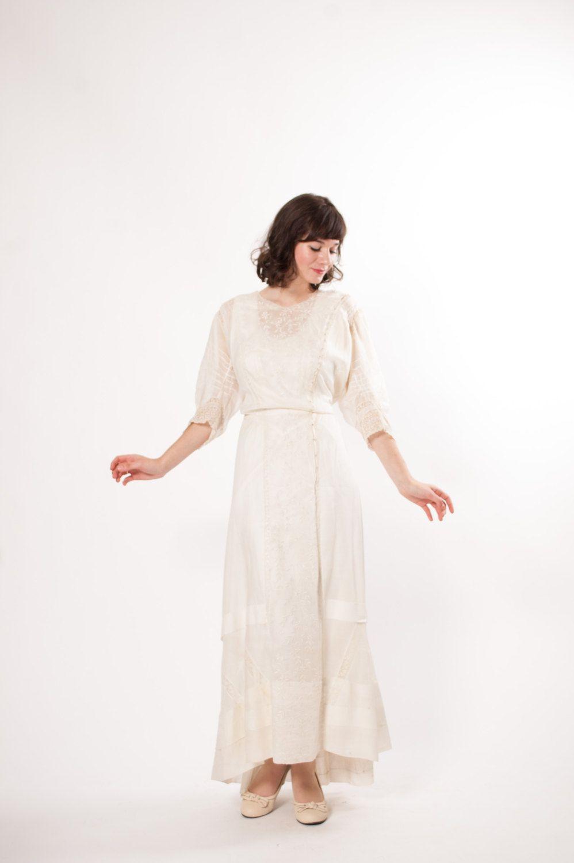Edwardian Wedding Dress 1910s Lawn Dress White Cotton Etsy Edwardian Wedding Dress Edwardian Wedding White Cotton Dress [ 1500 x 998 Pixel ]