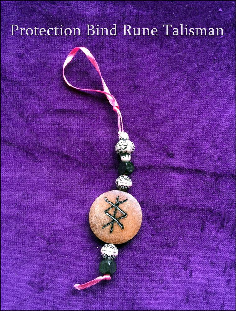 personalised protection bind rune wooden talisman amulet. Black Bedroom Furniture Sets. Home Design Ideas