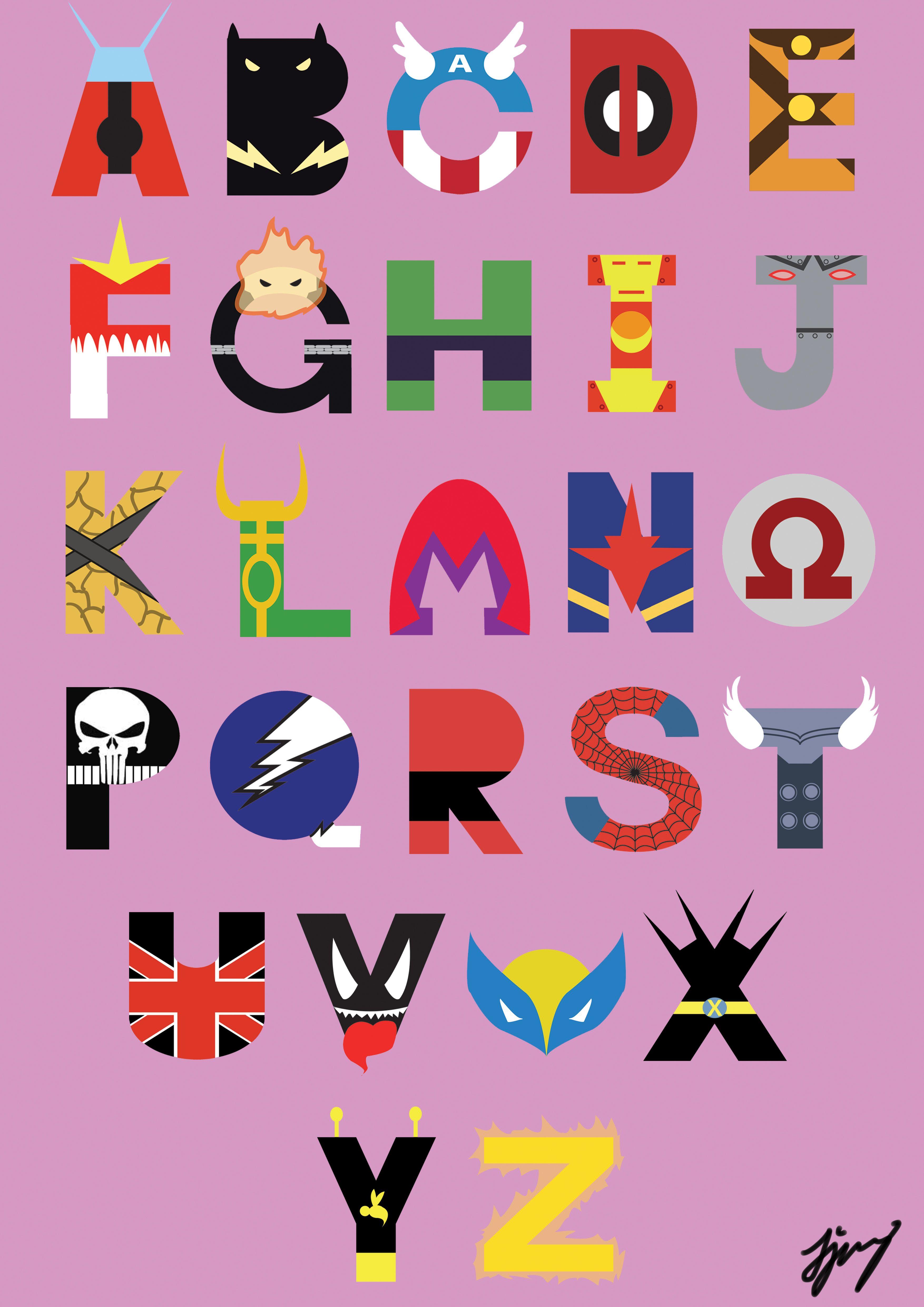 Marvel Superheroes Font by waynetan93 deviantart com on