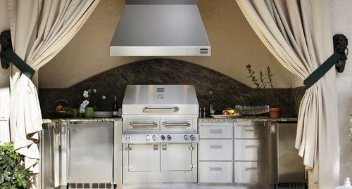 wall mounted extractor hood garden k wvh kalamazoo outdoor gourmet outdoor kitchen on outdoor kitchen vent hood ideas id=27034