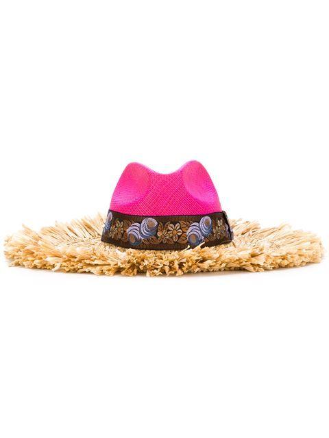 f557631b2cfae Comprar Etro sombrero con ala de paja deshilachada en Lisa from the world s  best independent boutiques