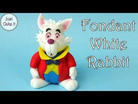 How to make fondant White Rabbit from Alice in Wonderland - YouTube