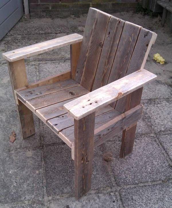 Little Child Pallet Chair | Woodworking | Pinterest ...