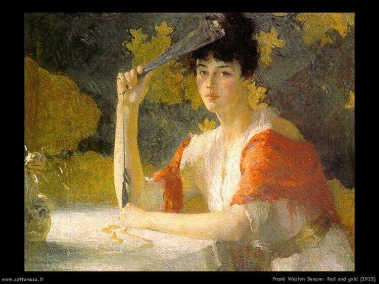 Red Ang Gold 1915 De Frank Weston Benson American Impressionism
