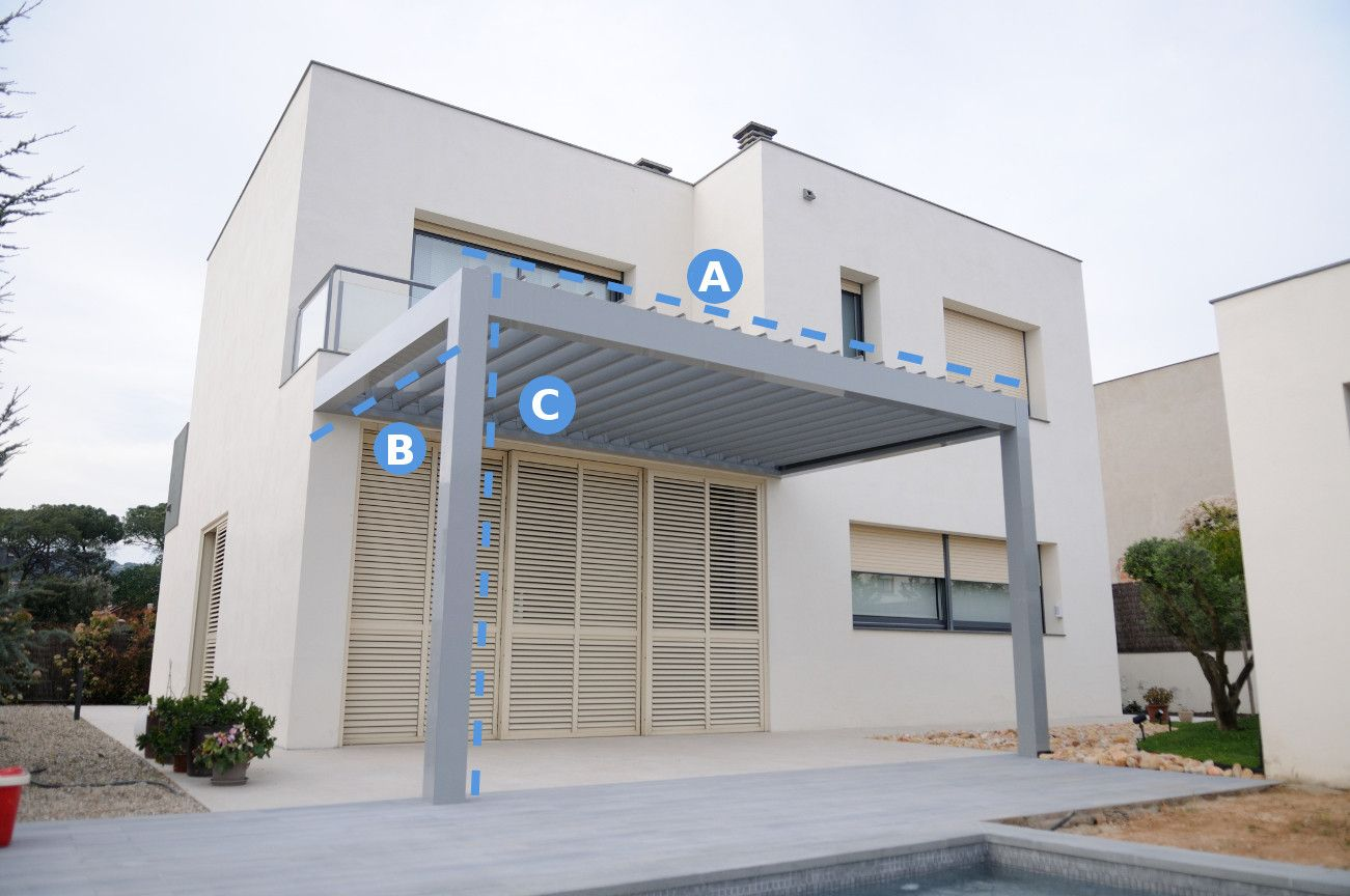 Pergola de aluminio precio fabulous prgola adosada de aluminio cubierta de with pergola de - Pergola bioclimatica precio ...
