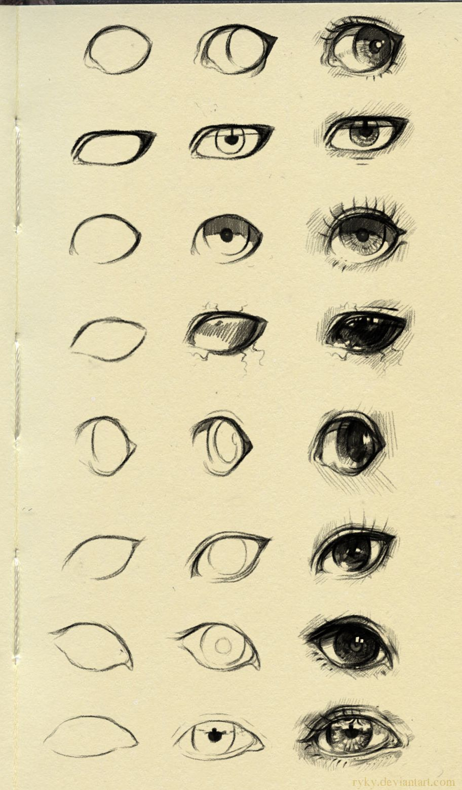 """""""Eyes reference 3"""" by on DeviantArt"""