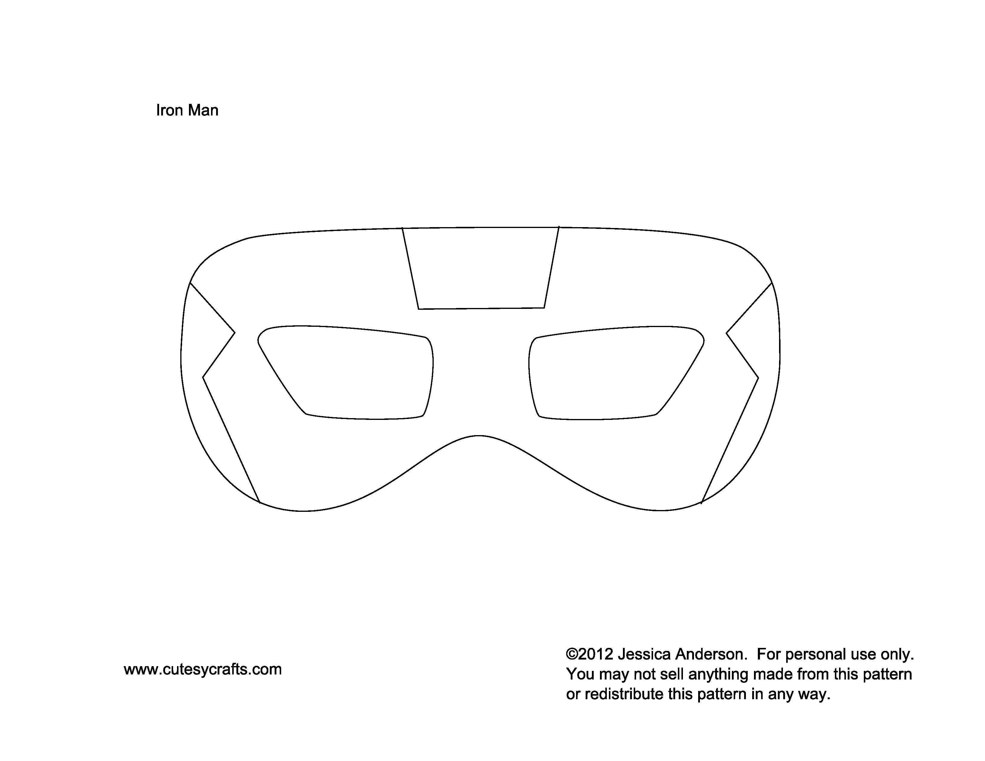 avengers mask template - iron man mask to kids patterns moldes pinterest