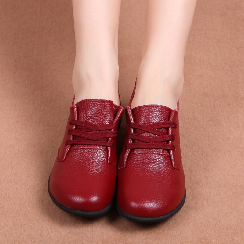 19.52$  Buy here - http://ali6gk.shopchina.info/go.php?t=32782575004 - New women Flat Shoes Soft Genuine Leather spring autumn winter Casual Shoes Plus velvet warm shoes Plus Size 35-43  #aliexpress