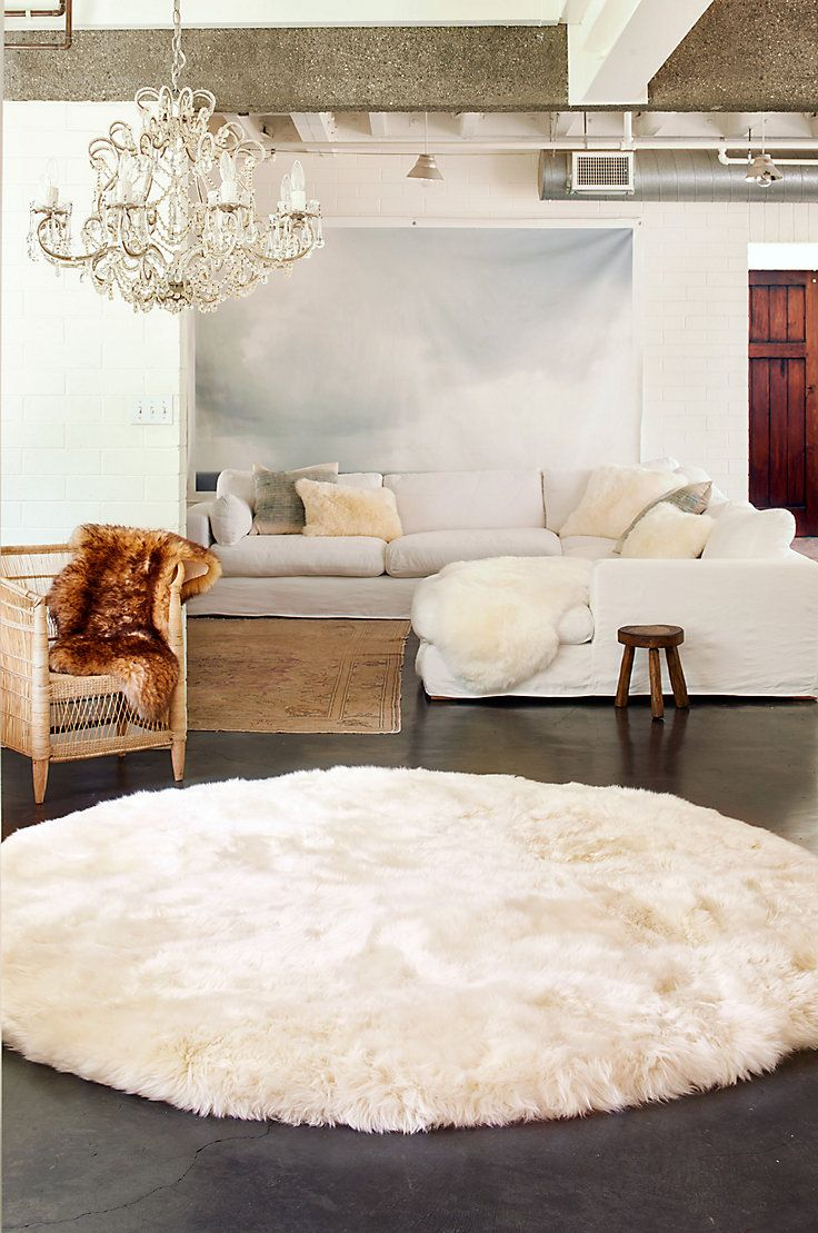 An Exceptional Rug Of This Size Deserves A Special Place To Be Admired This Lofty 3 Pile Of Long Wool Fur Will Turn Your Ho Rugs On Carpet Rugs Sheepskin Rug
