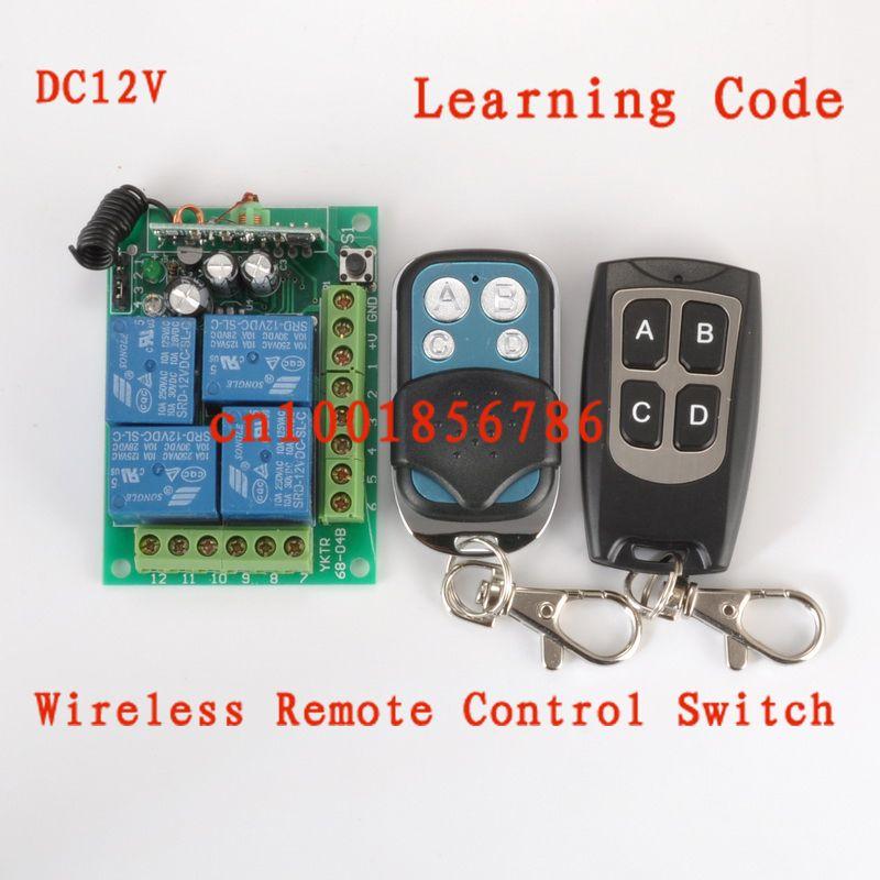 free shipping wireless remote control power switch system 12v 4ch rh pinterest com
