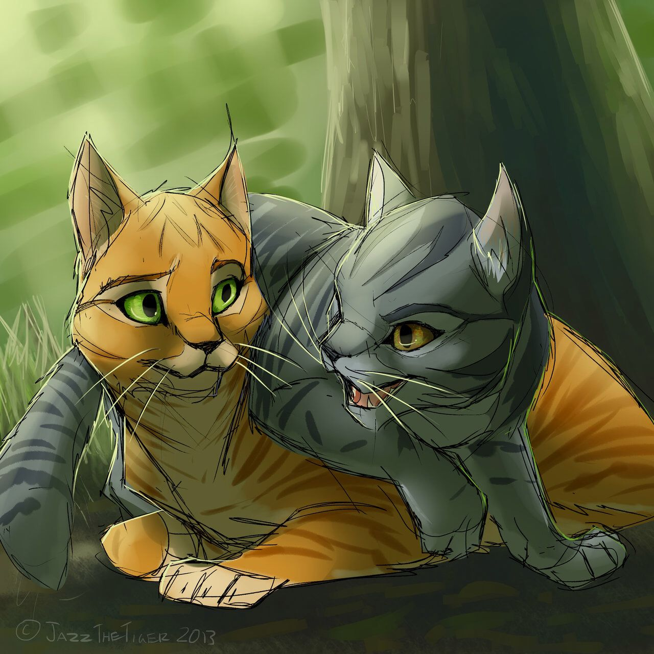 Firestar and Graystripe ( Both my fav charactors