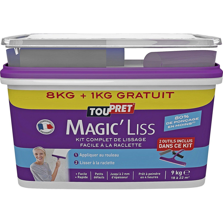 Enduit De Lissage Pate Magic Liss Blanc Toupret 8 Kg Enduit De Lissage Lissage Et Sac De Piscine