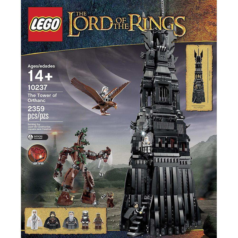 Lego Lord Of The Rings Tower Of Orthanc Set With Images Lego