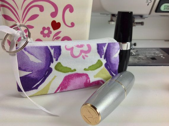 Lipstick Case Lip Balm Pouch Earphones by PhenomenalWomenShop