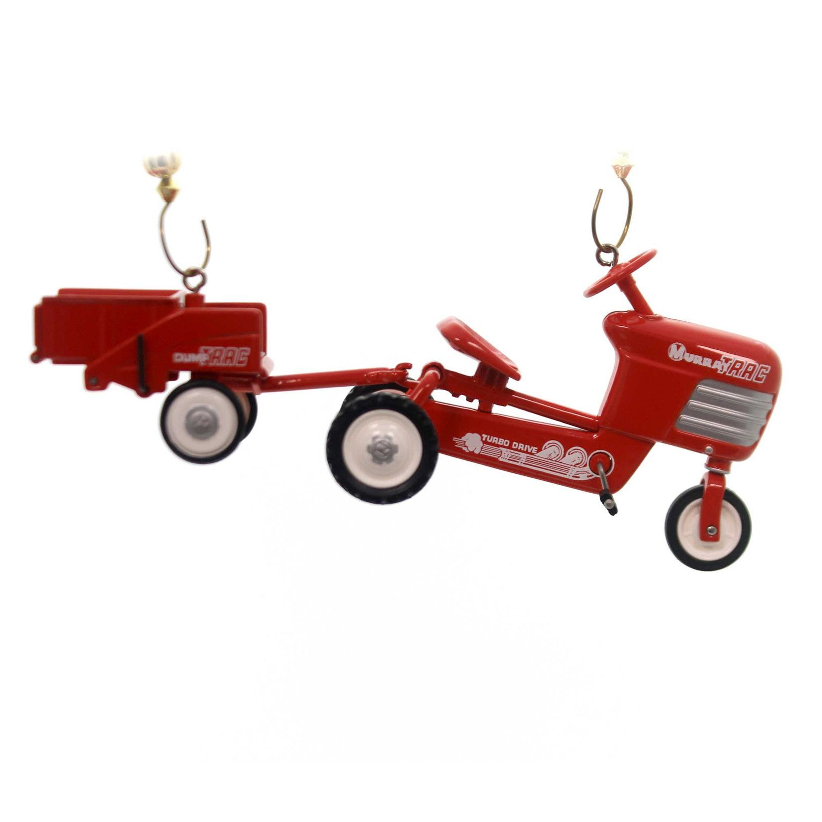 Holiday Ornaments 1955 Murray Tractor And Trailer Resin Ornament