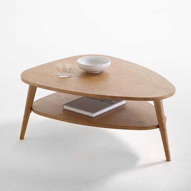 table basse vintage double plateau
