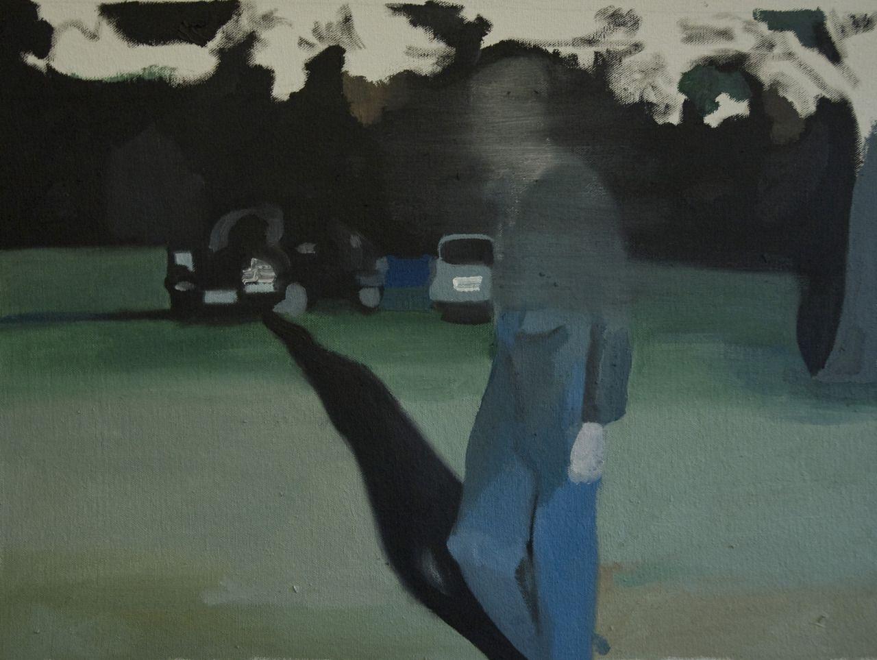 "POTUS, oil, 23""x16""   2012 - Anthony Cudahy"
