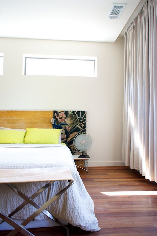 Curtains In A Modern Bedroom Via Apartment Therapy