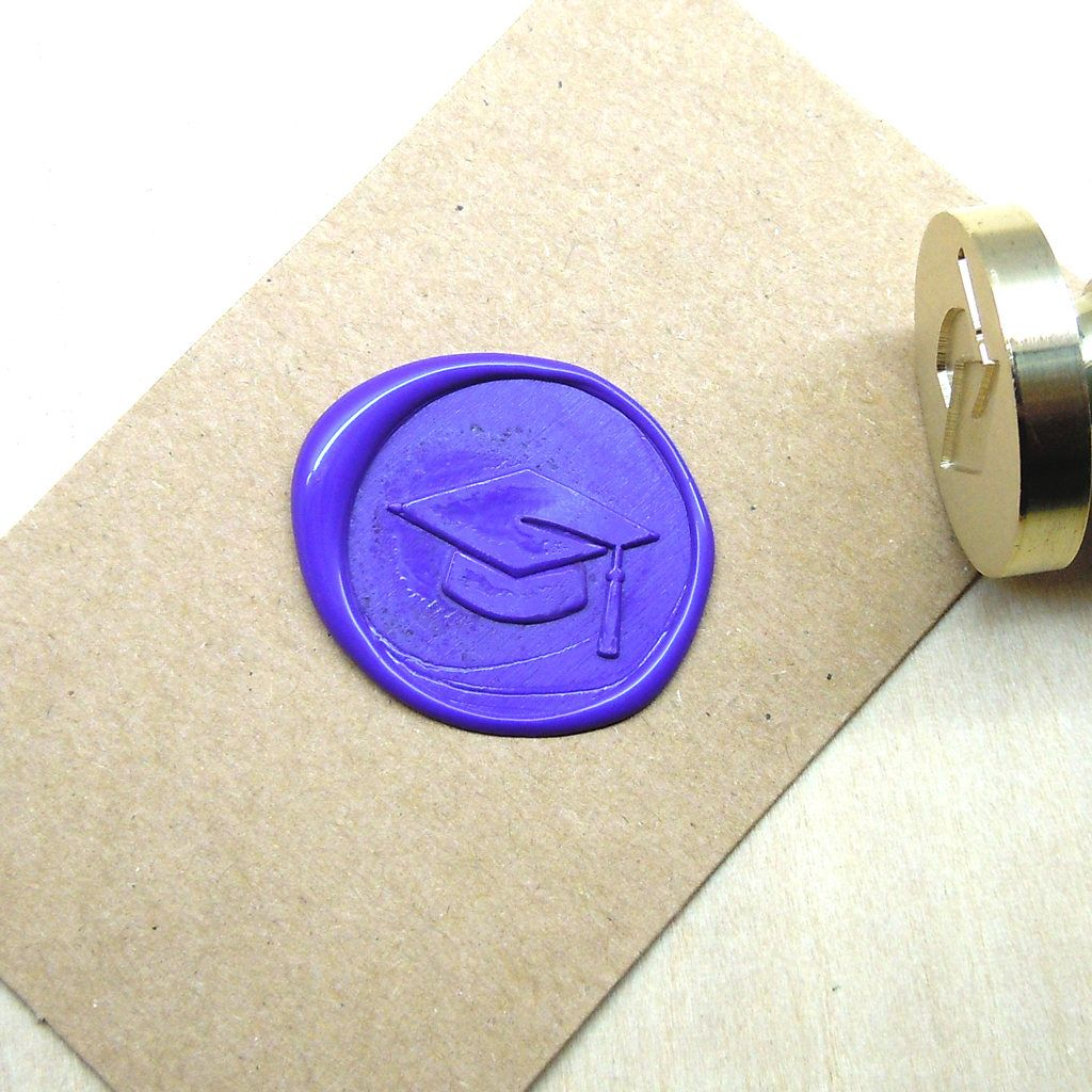 Graduation Cap Wax Seal Stamp Custom Order