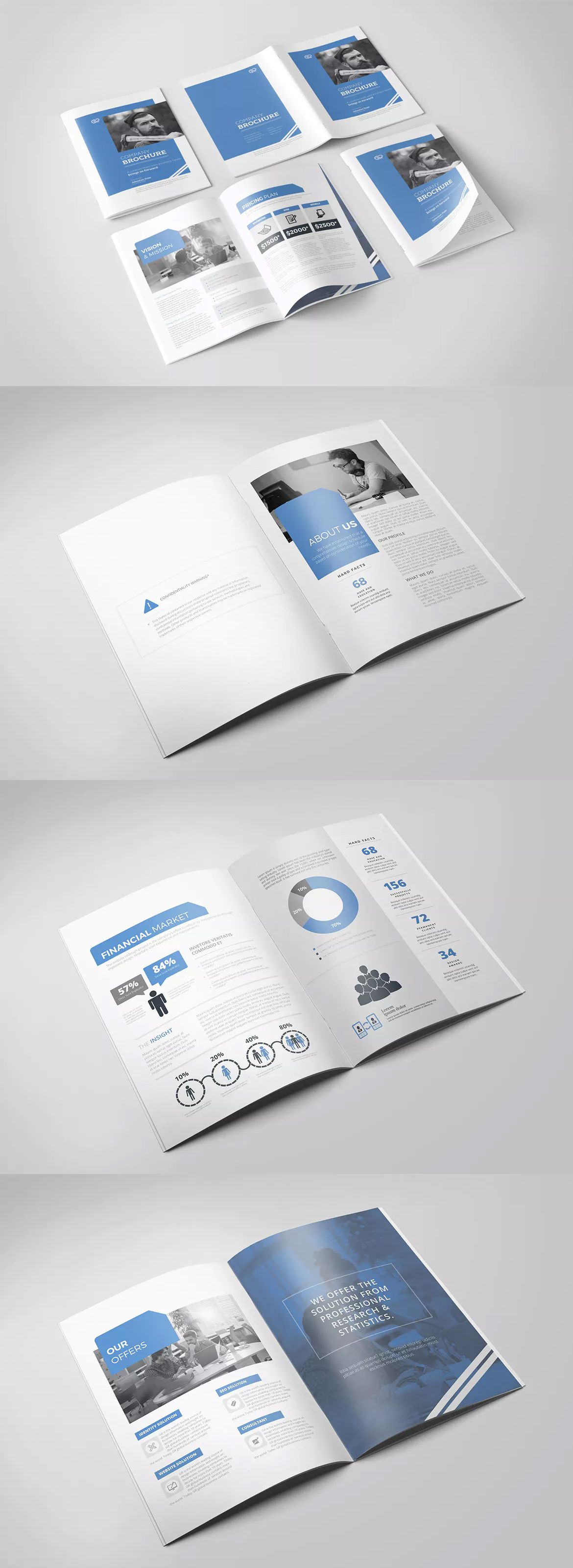 Company Profile Template InDesign INDD - US Letter Size and A4 ...
