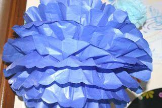 Full size tissue paper pompom