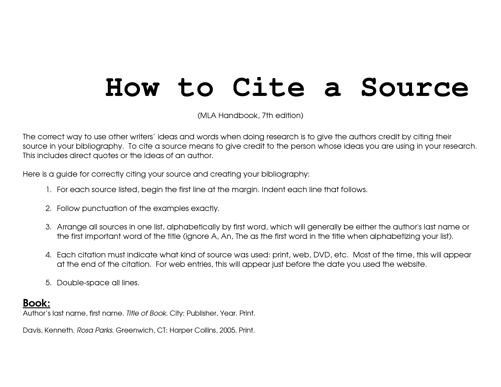 how to cite sources in essay