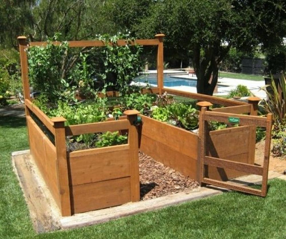 DIY Raised and Enclosed Garden Bed Elevated garden beds