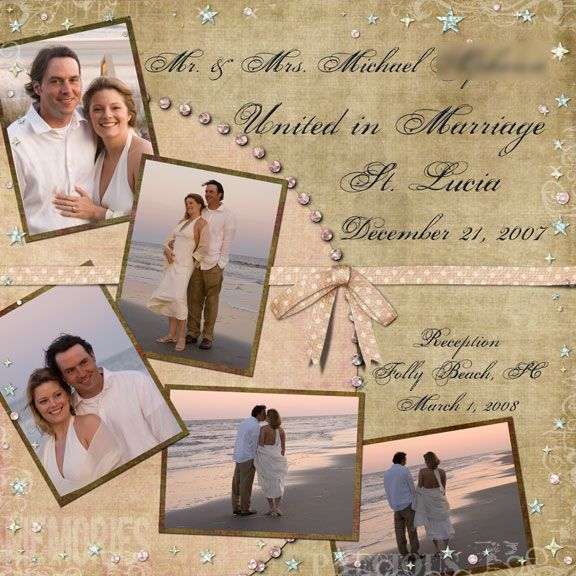 Wedding Page Layout Idea