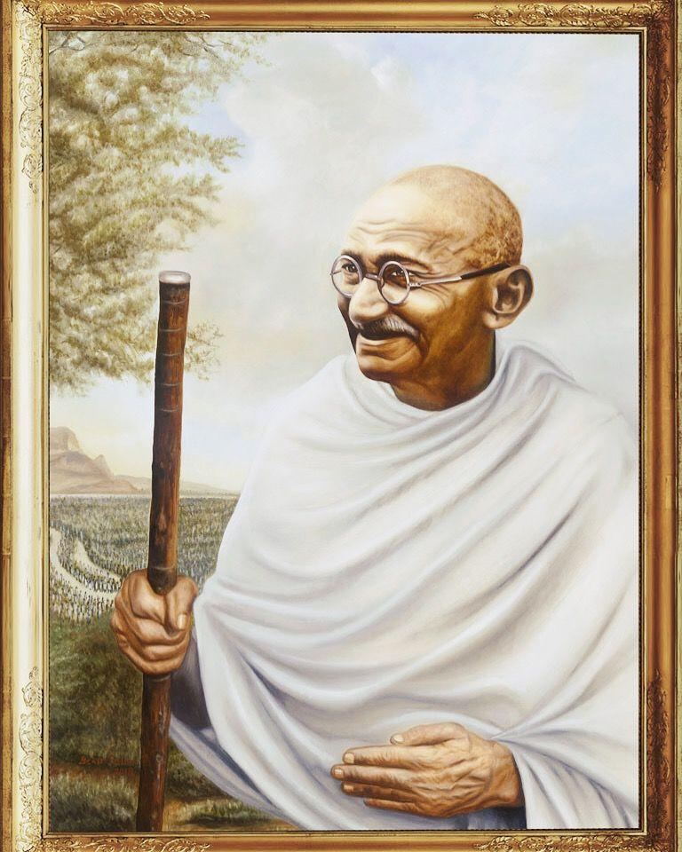 Mahatma Gandhi Maestro Art Mahatma Gandhi Photos Mahatma Gandhi Portrait Painting