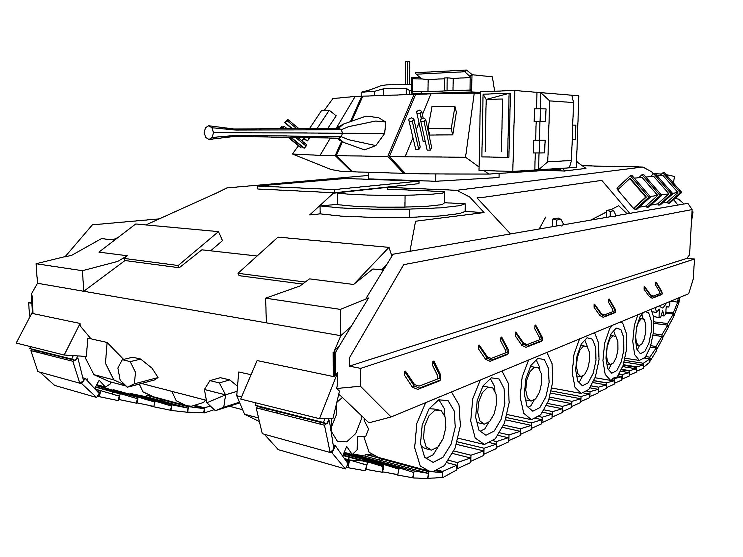 Tank 90 Shiki Military Truck Coloring Page Truck