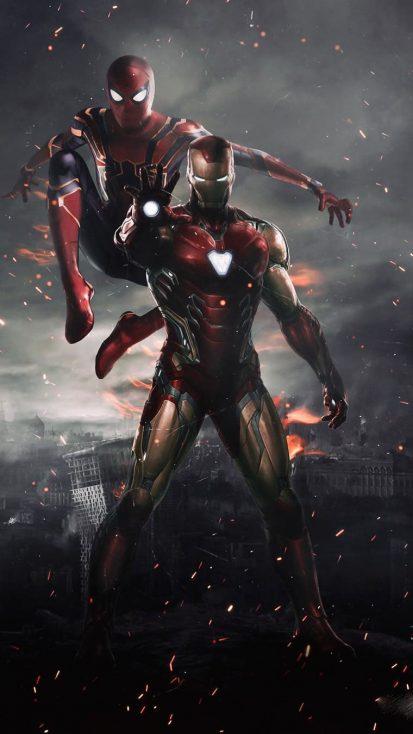 Iron Man And Spidey Iphone Wallpaper Iron Man Avengers Iron Man Spiderman Marvel Superheroes