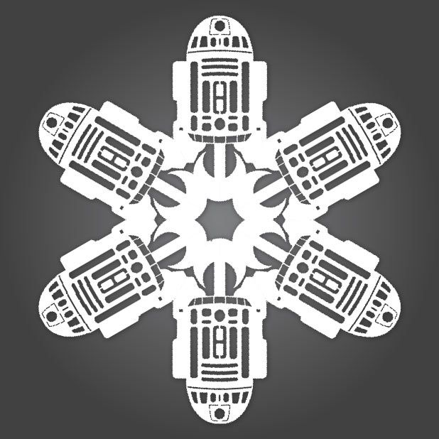 Image result for Star wars paper snowflake patterns | Snowflakes ...