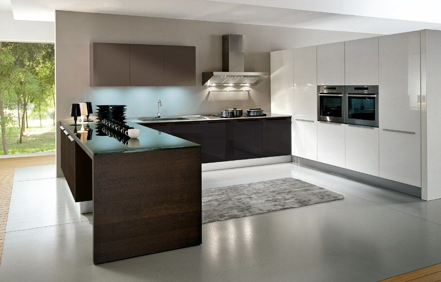 Contemporary Kitchen with Jaipur rugs - flux cool gray shag rug - contemporary kitchen hoods