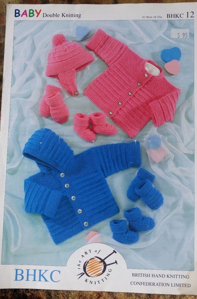 2ea2a83b6ab3 Baby Jackets Hat Mitts   Bootees knitting pattern DK 8 ply yarn ...