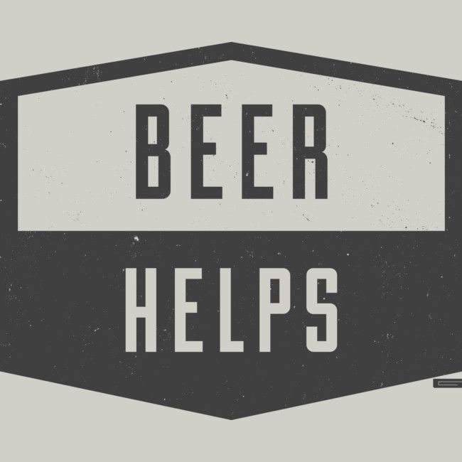 Beer Helps is a T Shirt designed by gracerx to illustrate your life and is available at Design By Humans