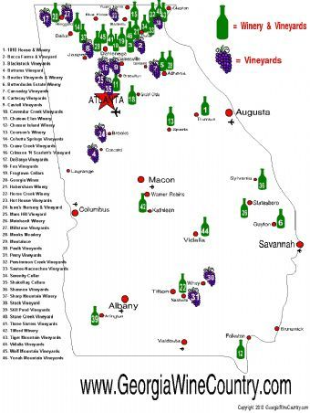 Georgia Wine Country Many people dont realize the wealth of wine